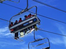 Skiing in Snowmass, Colorado Royalty Free Stock Photo