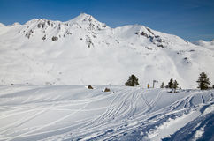 Skiing in the spring Pyrenees Stock Images