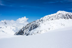 Skiing Stubai Glacier Royalty Free Stock Photos