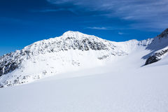 Skiing Stubai Glacier Royalty Free Stock Images