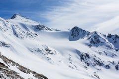 Skiing Stubai Glacier, Tirol, Innsbruck Land, Austria Stock Image