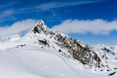 Skiing Stubai Glacier, Tirol, Innsbruck Land, Austria Stock Photography