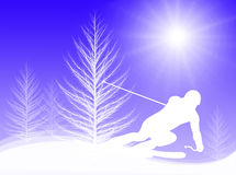 Skiing in the sun Royalty Free Stock Photography