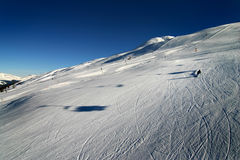 Skiing in the Swiss Alps Stock Image