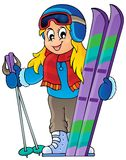 Skiing theme image 1 Royalty Free Stock Photography