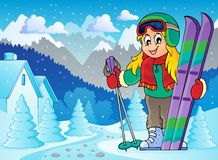 Skiing theme image 2 Royalty Free Stock Photography