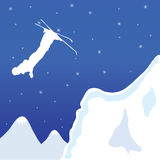 Skiing vector illustration Royalty Free Stock Photo