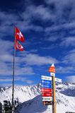Skiing in Verbier. Famous Ski resort Verbier-Nendaz in Switzerland Royalty Free Stock Images