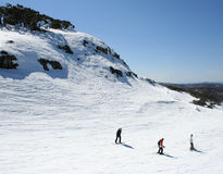 Skiing in Victoria, Australia. Last weeks of the winter ski season at Mt Buller, Victoria, Australia Royalty Free Stock Image