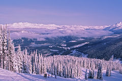 Skiing at Whistler Mountain Royalty Free Stock Photo