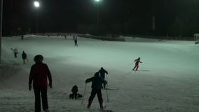 Skiing Winter Entertainment Background stock footage