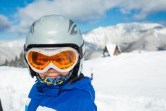 Skiing, winter, family Stock Image