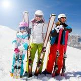 Skiing, winter fun royalty free stock photos