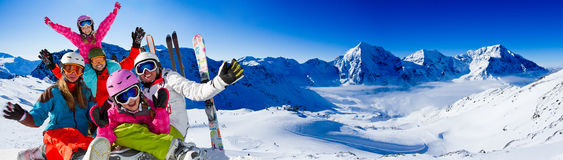 Skiing, winter fun Stock Image