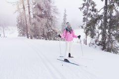 Skiing woman Stock Photography