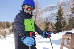 Skiing young boy Royalty Free Stock Photography