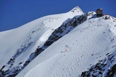 Skiing in Zermatt Stock Photo