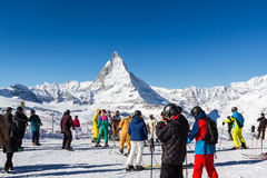 Skiing Zermatt Royalty Free Stock Photo