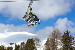 Skijahreszeit Stockbild