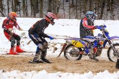 Skijoring Rennen Lizenzfreies Stockfoto