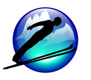 skijump symbolsberg Royaltyfria Bilder