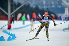 Skikonkurrent Stockfoto