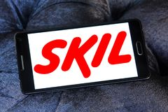SKIL Power Tools company logo. Logo of SKIL Power Tools company on samsung mobile. SKIL Power Tools is a wholly owned subsidiary of Chervon. and is a leader in stock photos