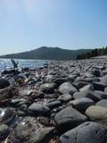 Skilak湖, Kenai半岛,阿拉斯加 库存照片