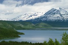 Skilak Lake. Kenai Peninsula, Alaska Royalty Free Stock Images