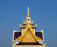 Skilfully Crafted Gable At Thai Temple Royalty Free Stock Images