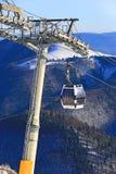 Skilift на курорте зимы Стоковое Изображение