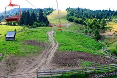 Skilift in Borsa Stockfotos
