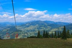 Skilift in Borsa Stockbilder