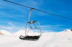 Skilift on bright  day Stock Image