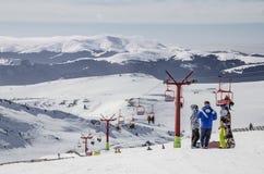 Skilift in Bucegi Mountains. Skilift at 2000 m altitude, in Sinaia, Bucegi Mountains, Romania Royalty Free Stock Photos