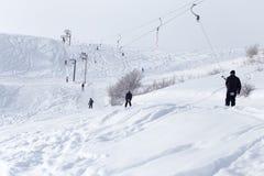 Skilift in de bergen Stock Afbeelding