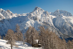 Skilift in den Schweizer Alpen Lizenzfreie Stockfotografie