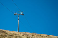 Skilift in Grindelwald/eerst Royalty-vrije Stock Fotografie