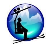 Skilift icon Stock Image