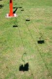 Skilift shadows Royalty Free Stock Photos
