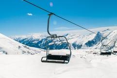 Skilift on ski resort during winter Stock Photos