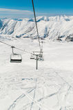 Skilift on ski resort during winter Stock Image