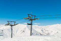 Skilift on ski resort during winter Stock Photos