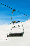 Skilift on  winter day Royalty Free Stock Photos