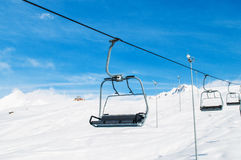 Skilift on  winter day Stock Images