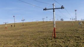 Skilift zonder sneeuw Stock Afbeeldingen