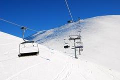 Skiliften royalty-vrije stock foto's