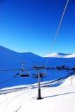 Skiliften stock foto's