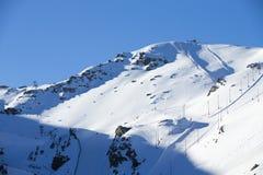 Skiliftpost in bergen bij de winter Royalty-vrije Stock Fotografie