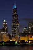 芝加哥skiline 图库摄影